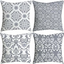 Watopi Vintage Geometric Cushion Covers Grey