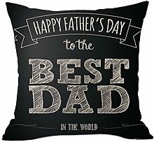 Watopi Vintage Throw Pillow Cover Best Dad Ever