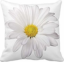 Watopi White Pillow Case Daisy Soft Square Floral