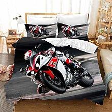 Watpasper Motorcycle Rider Bed Set With Duvet