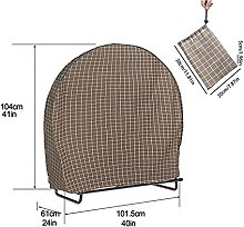 WATPET Firewood Rack Round Dust Cover Outdoor Dust