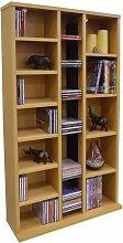 Watsons CD DVD Media Storage Shelves - BEECH