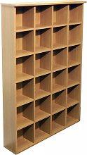 Watsons DVD and CD Storage Shelves - Oak