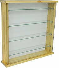 WATSONS EXHIBIT - Solid Wood 4 Shelf Glass Wall