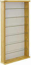 WATSONS EXHIBIT - Solid Wood 6 Shelf Glass Wall