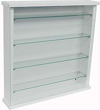 WATSONS EXHIBIT - Wood 4 Shelf Glass Wall Display
