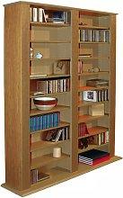 Watsons Multimedia CD DVD Storage Shelves - Oak
