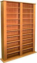 Watsons Multimedia CD DVD Storage Shelves - Pine
