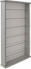 WATSONS Wall Display Cabinet Wood 6 Glass Shelves