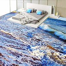 Wave Beach Photo Mural Wall Paper Living Room