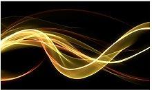 Wave Form Floating in Dark 4.5m x 270cm Wallpaper