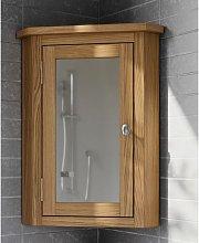 Waverly Oak Corner Bathroom Cabinet in Light Oak