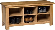 Waverly Oak Small Hallway Shoe Storage Bench in