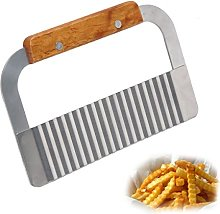 Wavy Crinkle Cutter Stainless Steel Blade Garnish