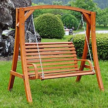 Waylon Larch Wood Swing Seat Freeport Park