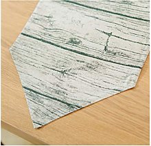 WAYYQX Table runner silver Retro Wood Grain