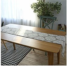 WAYYQX Table runner silver White Big Flower Table