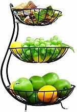 WAZDQ 3-Tier Metal Countertop Fruit Basket, Bowl