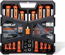 WC-RSD63 Universal Ratchet & Screwdriver Set With 63 Pieces - Wellcut