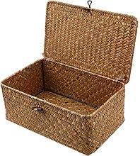 WCIC Storage Basket, Seagrass Weaving Case Storage