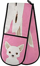 WDDHOME Chihuahua Buddy Dog Double Oven Mitts