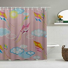 Wdoci Decoration Shower Curtain Cute Toy Spring
