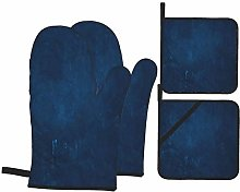 Wdoci Oven Mitts and Pot Holders 4pcs