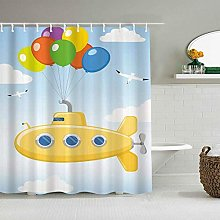 Wdoci Shower Curtain,Thanksgiving,Christmas Yellow