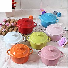 WDXG Ceramic Microwave Oven Soup Cup Tableware lid