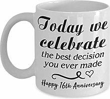We Celebrate Coffee Mug - 16th Anniversary Gift