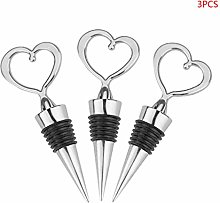 WE-WHLL 3pcs Heart Shape Champagne Red Wine Bottle