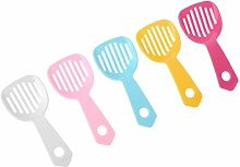 WE-WHLL 5Pcs Hamster Bath Spoon Litter Scooper