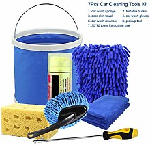 WE-WHLL 7Pcs Microfibre Car Wash Cleaning Tools