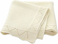 WE-WHLL Baby Blankets Knitted Baby Swaddle Wrap