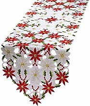 WE-WHLL Christmas Embroidered Table Runners