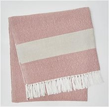 Weaver Green - Coral Hammam Throw - coral - Coral