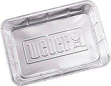 Weber Small Aluminium BBQ Drip Trays, Pack of 10