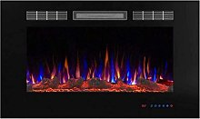 WECDS Fireplace Electric Wall Mountable Electric