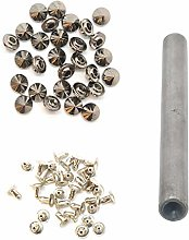 WedDecor 100pcs Cone Spikes Rivets with Hand Tool