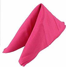 Weddecor 20 Inch Fuchsia Pink Cotton Polyester