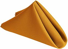 Weddecor 20 Inch Gold Cotton Polyester Table