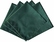 Weddecor 20 Inch Green Cotton Polyester Table