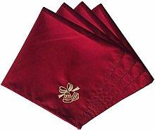 Weddecor 20 Inch Red Spun Polyester Table Napkin
