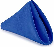 Weddecor 20 Inch Royal Blue Cotton Polyester Table