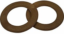 Weddecor 48mm Brown Wooden O Ring for Pet Collar,