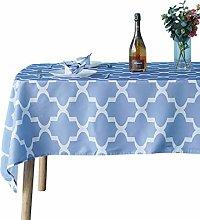 Weddecor 60 x 84 Inch Geomtric Trellis Tablecloth