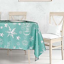 Weddecor Christmas Tablecloths Rectangle Polyester