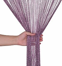 Weddecor Dark Purple String Curtains Glitter
