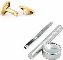Weddecor Double Cap Tubular Rivets Studs & Tool