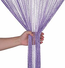 Weddecor Light Purple String Curtains Glitter